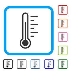 temperature level framed icon vector image