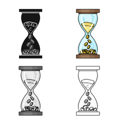Time is money icon in cartoon style isolated on vector