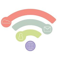 Wifi flat icon infographic concept blue design vector