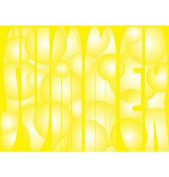 yellow summer vector image vector image