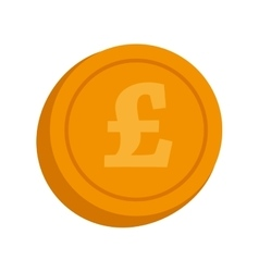 currency lira coin money isolated vector image