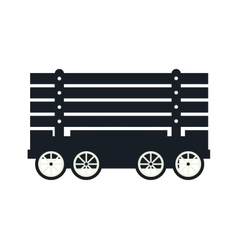 Cargo wagon train vector