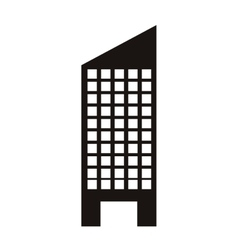 Silhouette monochrome with skyscraper building vector