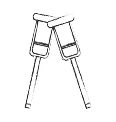 Isolated crutches design vector