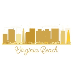 Virginia beach city skyline golden silhouette vector