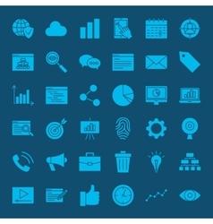 Development web glyphs icons vector