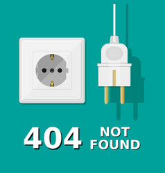 Electrical plug is unplugged into the socket vector