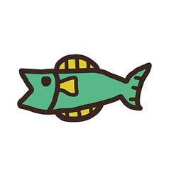 Icon fish vector