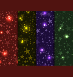 Seamless pattern with stars deep space star sky vector