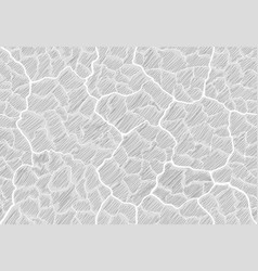 Image cracks shaded in the style of doodle vector