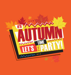 Autumn abstract vintage retro banner sign vector