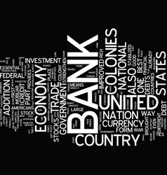 The bank of the united states text background vector