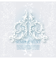 White ornament vector
