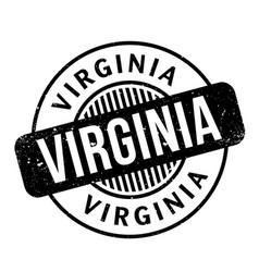 Virginia rubber stamp vector