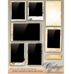 Collection of vintage photo frames vector