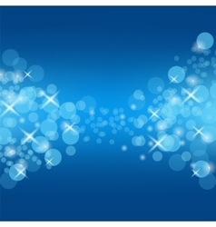 Abstract blue circle background vector