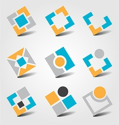 Colorful business icon collection vector