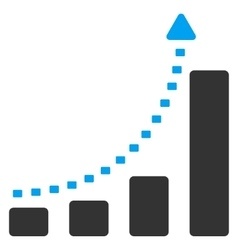 Bar chart positive trend icon vector
