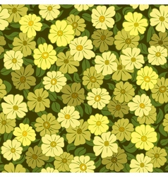Flower field seamless pattern vector