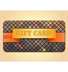 Colorful gift card vector
