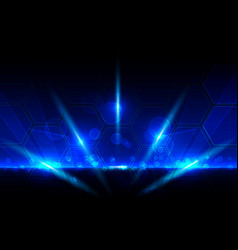 abstract blue light technology concept abstract vector image