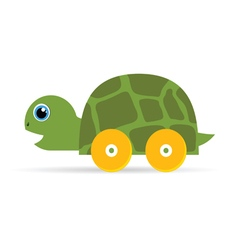 baby toys green turtle vector image vector image