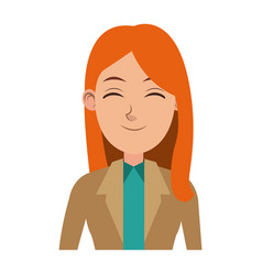 Beautiful young business woman successful vector