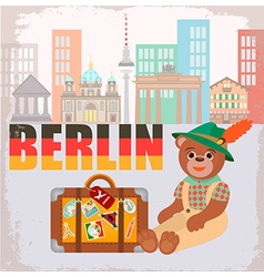 Berlin Bear vector image vector image