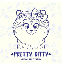 cute kitten vector image