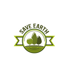 ecology eco environment green tree icon vector image vector image