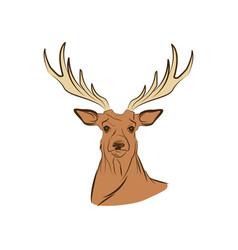 Free spirit deer animal bohemic design vector