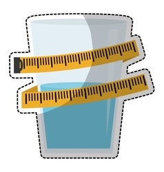 glass with water icon vector image