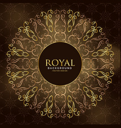 Golden royal mandala ornamental decoration vector
