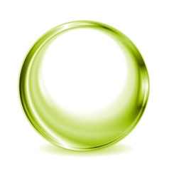 Green blurred circle shape design vector image vector image