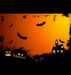 halloween grunge background vector image vector image