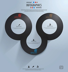 infographics template 3 vector image