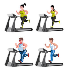 Isolated fitness design concept with before and vector