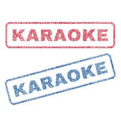 Karaoke textile stamps vector