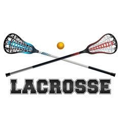Lacrosse word art vector