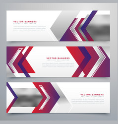 modern business banners design set of three vector image
