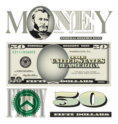 money 50 Dollars vector image vector image