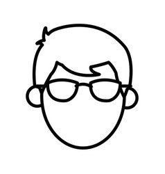 outlined head male faceless image vector image vector image