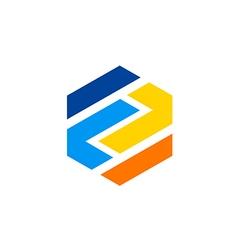 polygon abstract construction logo vector image