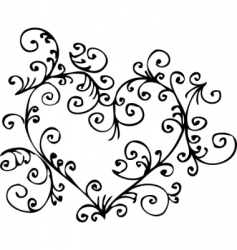 romantic heart vignette vector image