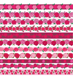 Rose border patterns vector