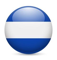 Round glossy icon of el salvador vector