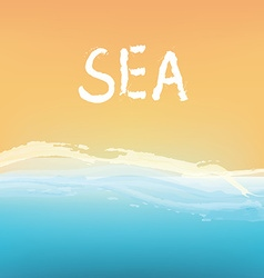 Sea and sand abstract background design vector