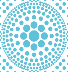 seamless blue polka abstract pattern vector image vector image