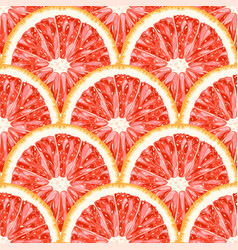 Seamless pattern of grapefruit citrus background vector