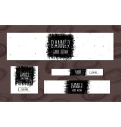 Set of white Web Banners Templates hand drawn vector image vector image